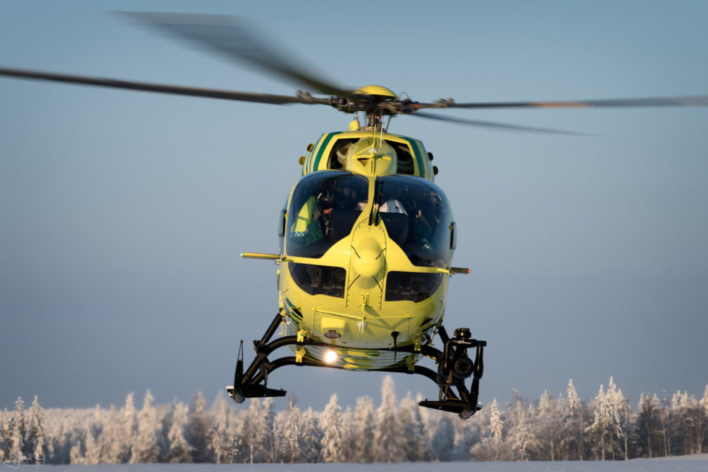 FinnHEMS mandates two-pilot operations for the unforgiving environment around Rovaniemi. Lloyd Horgan Photo