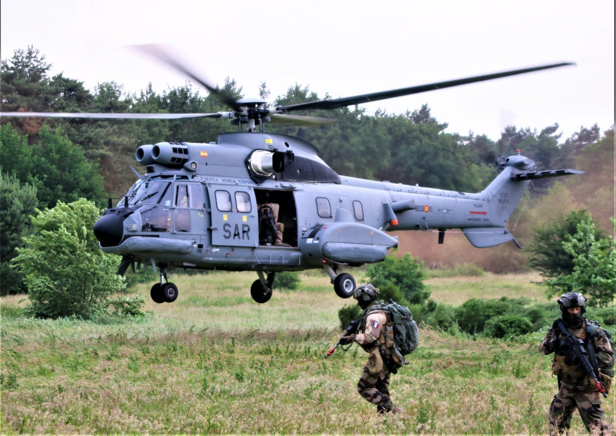 An Aerospatiale AS332B during an APROC exercise in Holland. Photo submitted by Martijn Venix