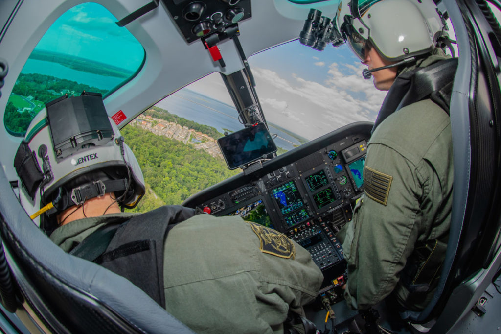 A typical shift for a Seminole County Sheriff's Office aircraft commander covers about 12 hours, with around two hours spent in the air patrolling hot spots for crimes. When call-outs occur - for missing persons, fires, and SAR or air ambulance support - airborne time increases considerably. Mike Reyno Photo