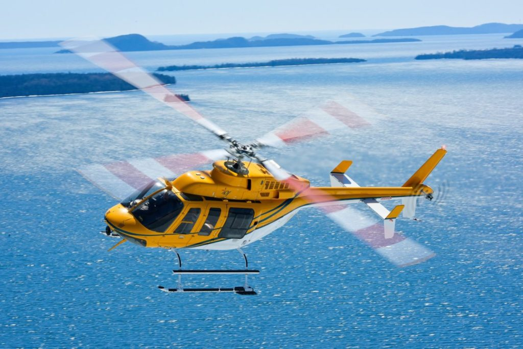 Wisk Air acquired its first Bell 407 in 2005, and now has three of the type in its fleet. The aircraft typically perform powerline work - another growth area for the operator. Mike Reyno Photo