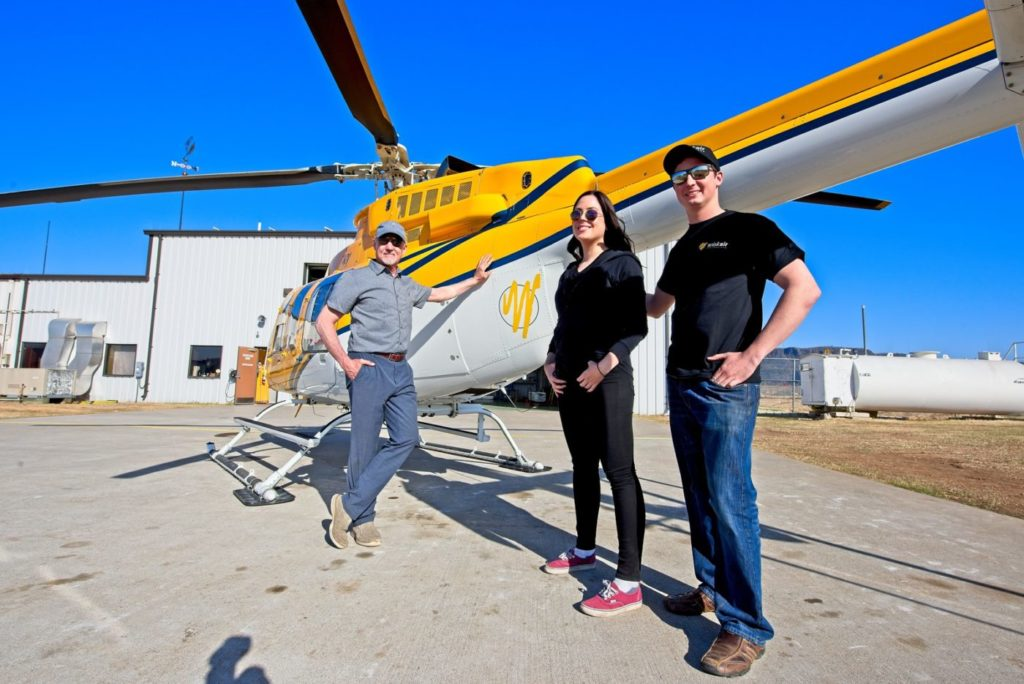 Mark Wiskemann's two children work as junior pilots at the company, and are taking increasing responsibility to help take the company into the future. Mike Reyno Photo