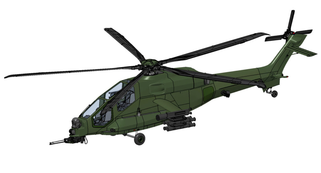 The AW249 will have a maximum take-off weight in the range of seven to eight tonnes and useful load in excess of 1,800 kg. Leonardo Image