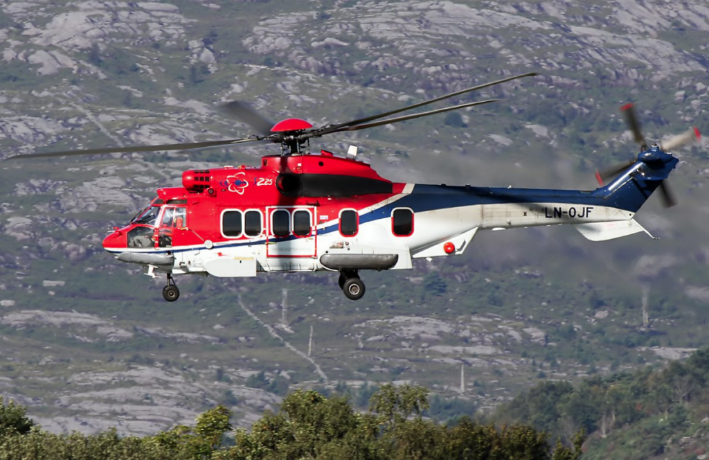 The aircraft -- LN-OJF -- was a CHC-operated H225, and was returning to Bergen Airport Flesland from Gullfaks B platform in the North Sea. Mihai Crisan Photo