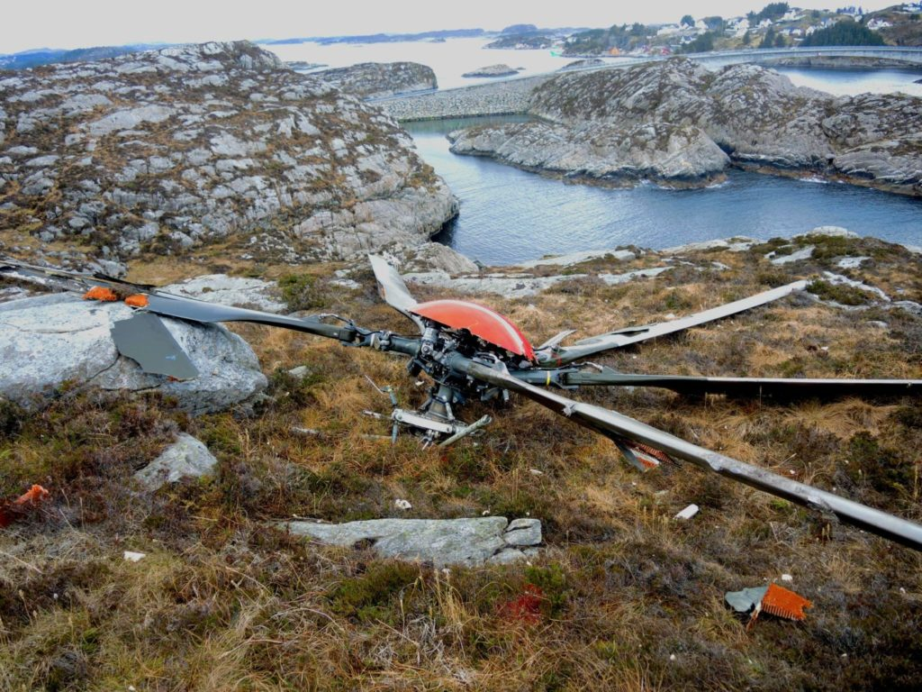 The aircraft's main rotor landed 550 meters away from the main crash site. AIBN Photo