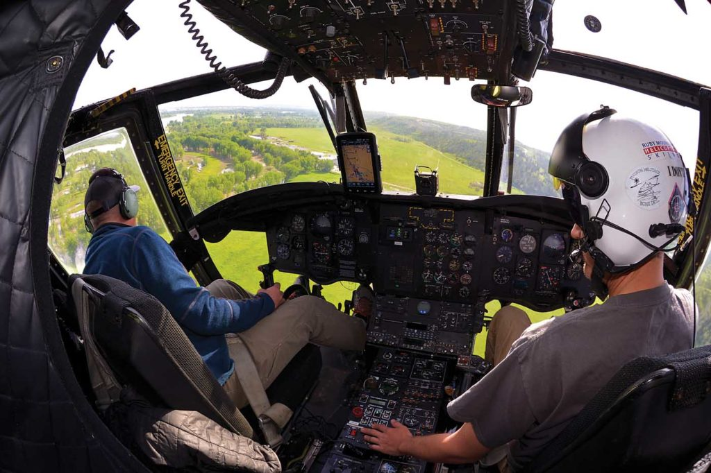 Bubble pilot-side windows allow flight crews in the Chinook to have a clearer view over their loads, making it easier to precisely place water where it's needed. Skip Robinson Photo