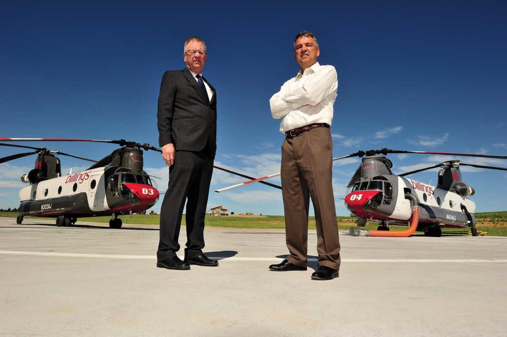 Al (left) and Gary Blain's vision and hard work brought BFS to where it is today - a premier heavy-lift helicopter operator with a focus on the firefighting sector. Skip Robinson Photo