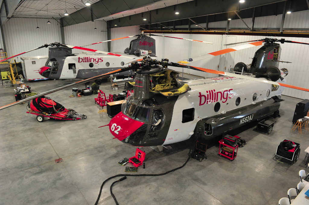 The new hangar is fully equipped and gives crews plenty of room to do their work. Skip Robinson Photo