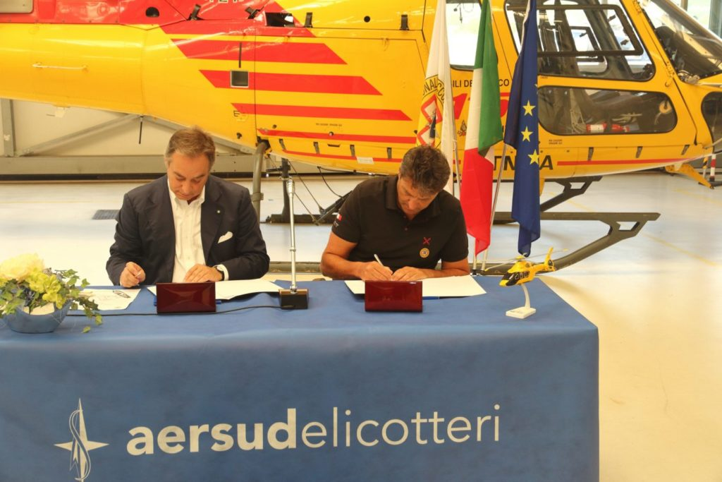 The agreement aims to improve the overall effectiveness of the helicopter rescue operating system in mountainous and impervious environments, by sharing their respective knowledge assets.