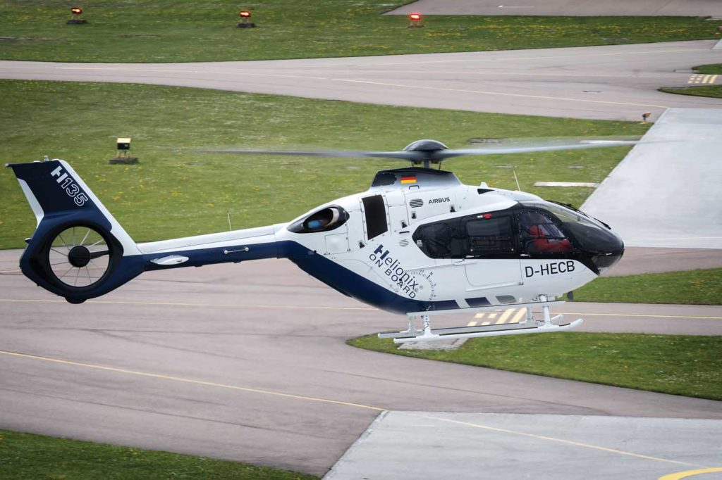 FlyScan, a new data monitoring tool on dynamic systems, was launched by Airbus last year. It is now available for all the manufacturer's twin-engine aircraft, including the H135 with Helionix. Lloyd Horgan Photo