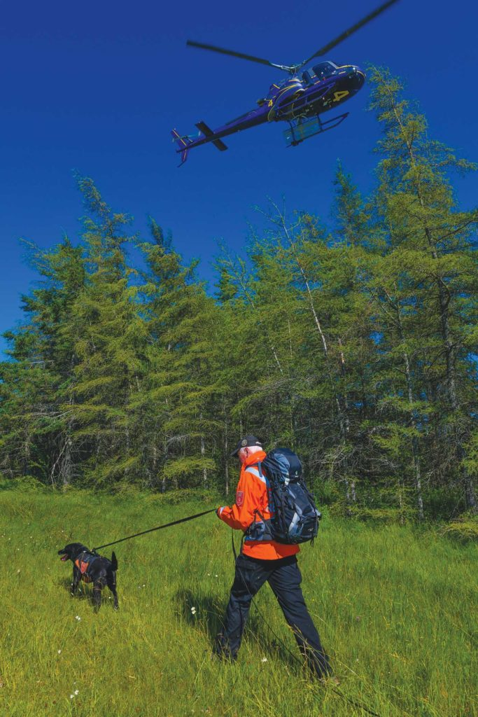 The operator regularly works with inland search-and-rescue personnel to find missing people. There are 23 SAR teams across Nova Scotia, consisting of 1,400 volunteers. Mike Reyno Photo