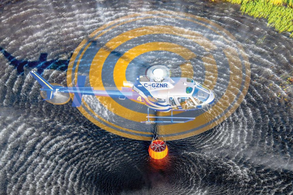 The department has seven Bambi Buckets, including three 910-liter Bambi Maxs, which offer the capability to perform multiple drops of different sizes. Mike Reyno Photo