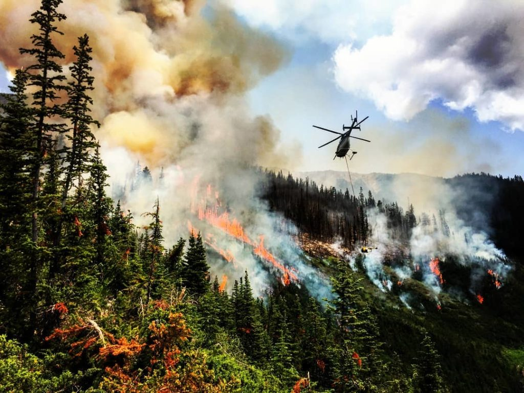 Due to its mountain experience with aircraft, Coldstream's helicopters are based at the Kamloops Fire Centre and Southeast Fire Centre, toward the B.C.-Washington border where many fires are currently. Coldstream Helicopters Photo