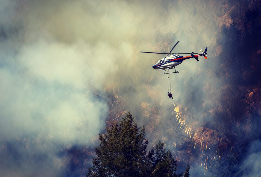 Nearly every part of British Columbia remains under a high-to-extreme fire danger rating. Coldstream Helicopters Photo