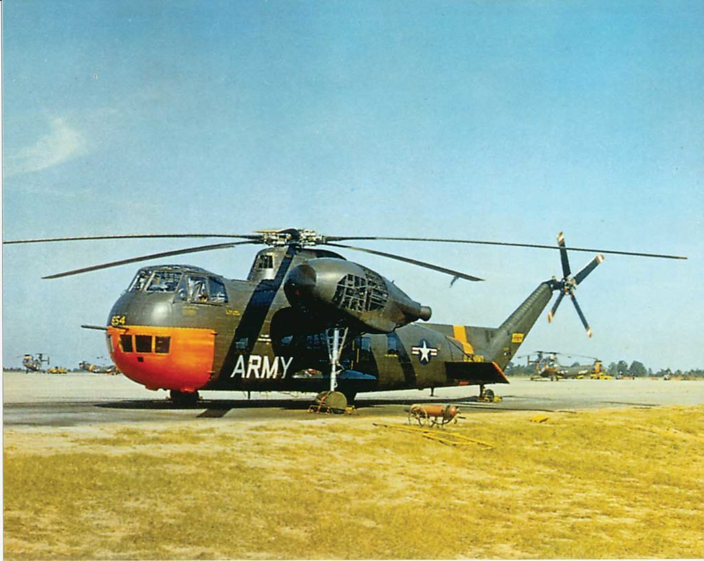 The U.S. Army was the second U.S. military service to purchase the S-56 as a transport helicopter, which it designated the H-37 Mojave. The first aircraft was delivered to the Army at Fort Rucker, Alabama, in 1956. Jeff Evans Collection Photo