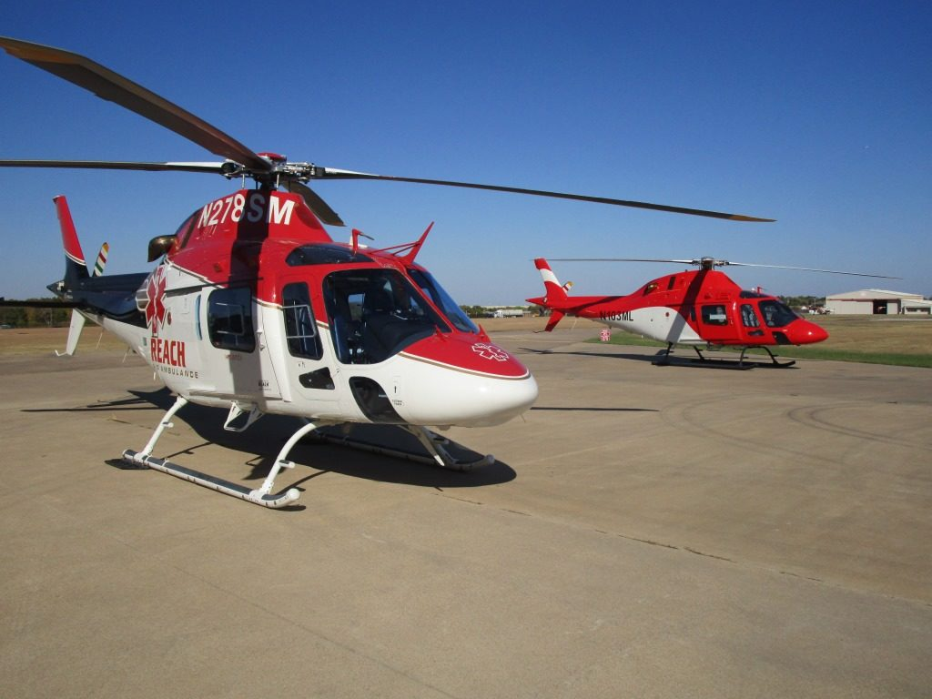 SARCAMS chose to fit its new AW119Kx helicopters with AMS Heli Design's lightweight EMS interior because it is a good fit for the organization's requirements as both an air ambulance and external load operator. AMS Heli Design Photo