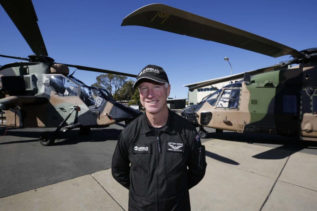 Barker started his flying career when he enlisted in the Australian Army as a specialist service officer pilot in October 1987. He now has a total of 8,150 hours of flying experience. Airbus Photo
