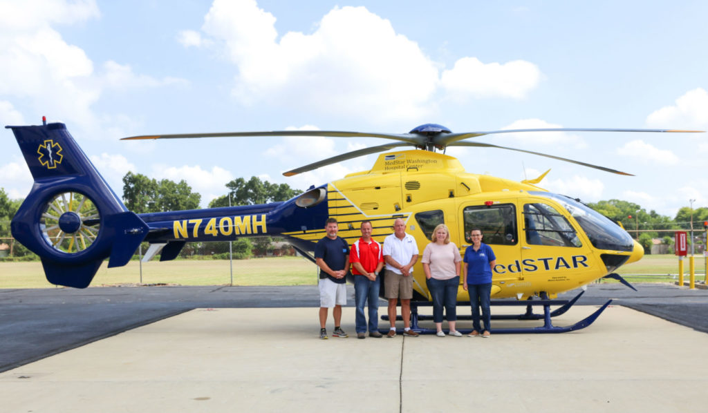 This H135 aircraft joins MedStar Transport's fleet of four existing air medical helicopters. Metro Photo