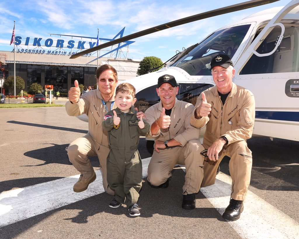John McGonagle, director of flight operations and chief pilot at Sikorsky, said their day with William was one the staff will never forget.