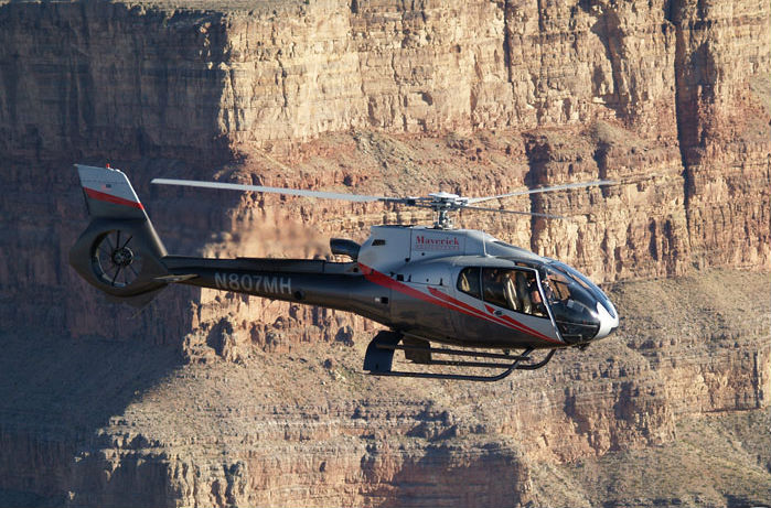 Maverick Helicopters will transfer guests to events at the Las Vegas Motor Speedway with its Airbus EC130 helicopters. Maverick Photo
