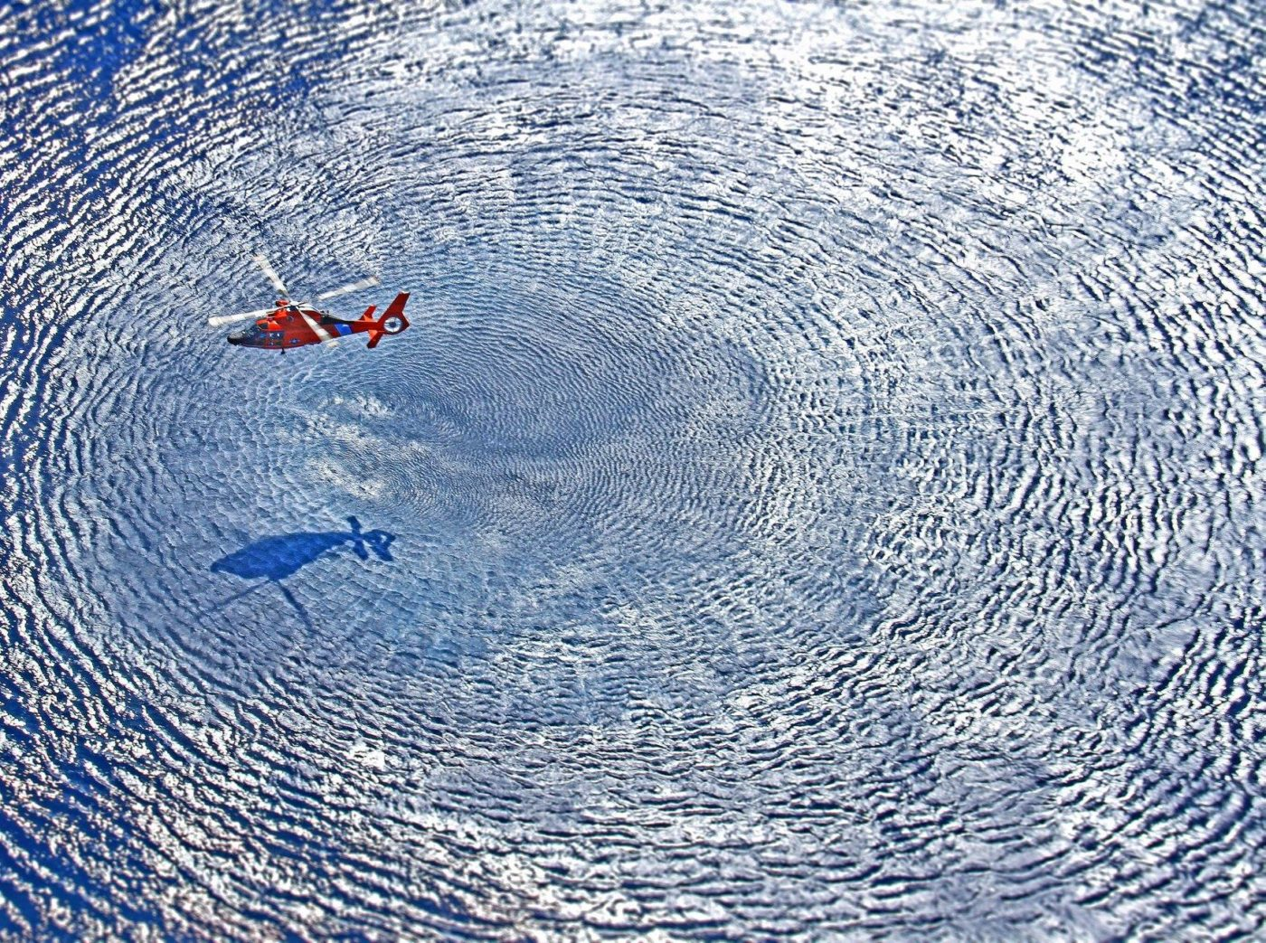 Hover down-wash from an Airbus MH-65D Dolphin. Photo submitted by Matt Udkow