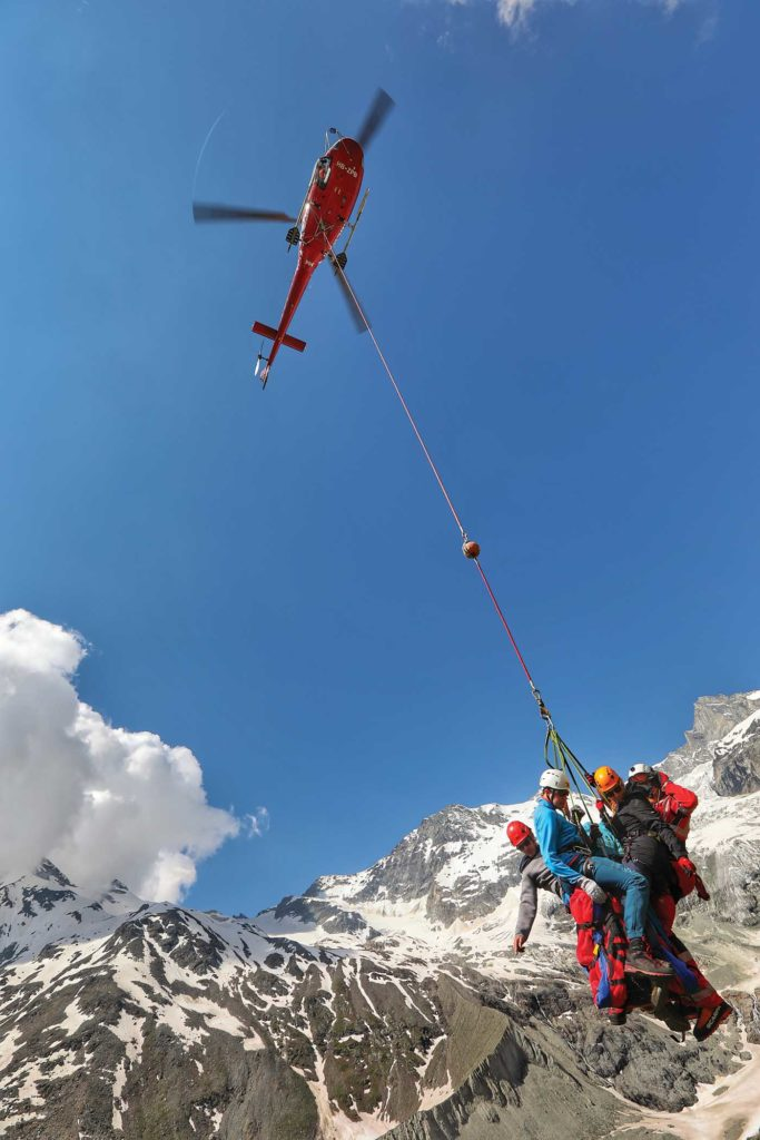 The cold air and high altitudes of the Swiss Alps provided great authenticity to the training missions. Tomas Kika Photo