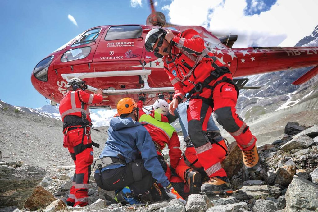 The program included a full-simulated rescue mission, from the arrival of the medical team, through taking care of the patient, up to calling the helicopter for pick-up. Tomas Kika Photo