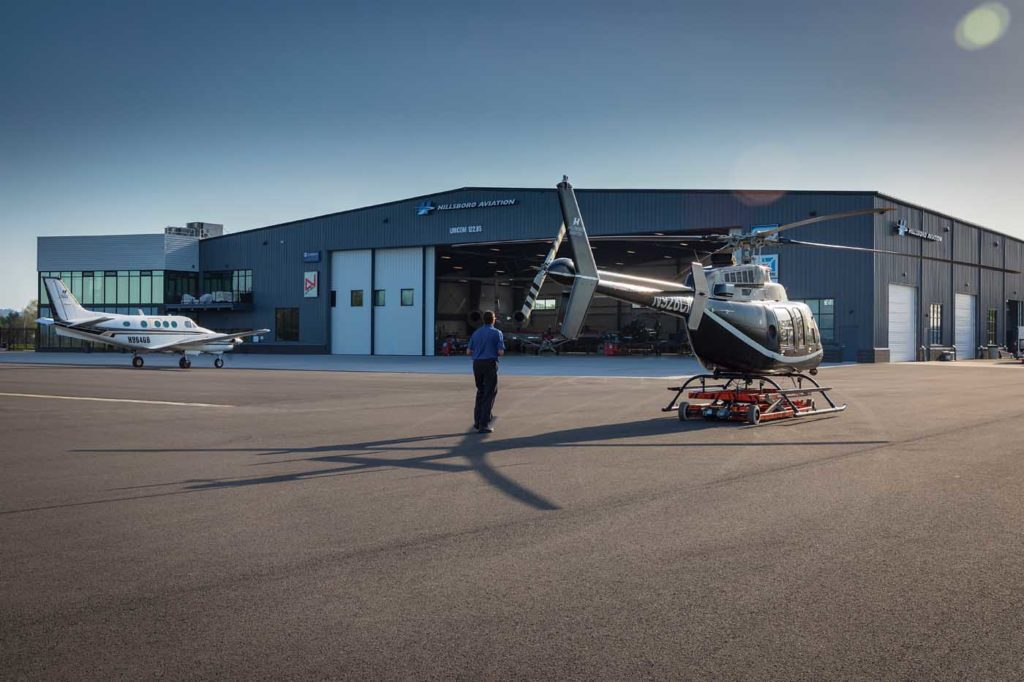 The new facility has four acres of ramp and parking space, providing plenty of room for both its own fleet and the various customers visiting its FBO and service centers. Heath Moffatt Photo