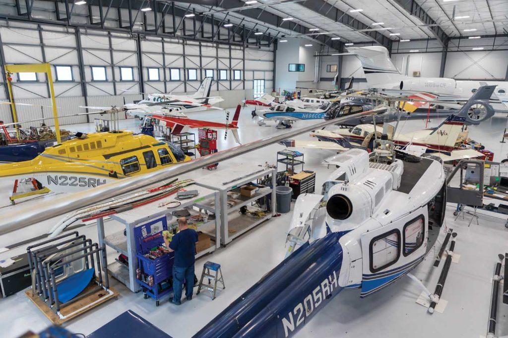 Hillsboro's hangar spans 32,000 square feet, and has radiant heat flooring to make life comfortable on cold winter days. Heath Moffatt Photo