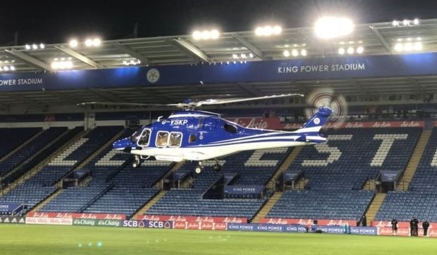 The AW169 helicopter was a familiar sight at the stadium.