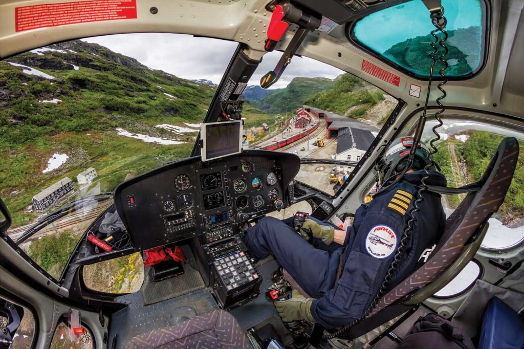 New pilots are generally promoted from within the company, having previously served as a loadmaster. It can take years before they begin the company's pilot training process. Tom Andreas Østrem Photo
