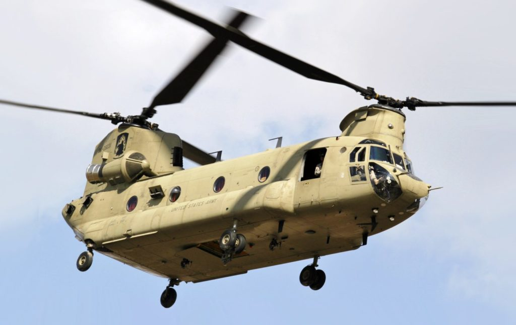 Boeing will support rotor blades on more than 450 U.S. Army Chinooks around the globe. Specialist Glenn M. Anderson Photo