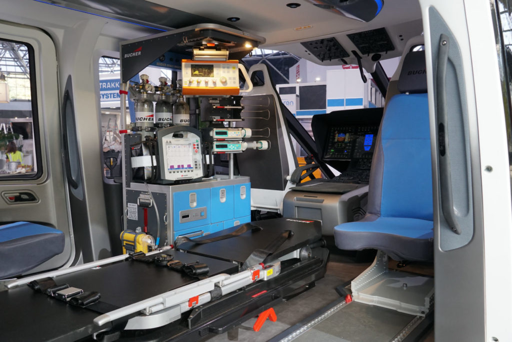 Airbus recently displayed an EMS mock up of the H160 at Helitech International in Amsterdam, the Netherlands. Rob Reyno Photo