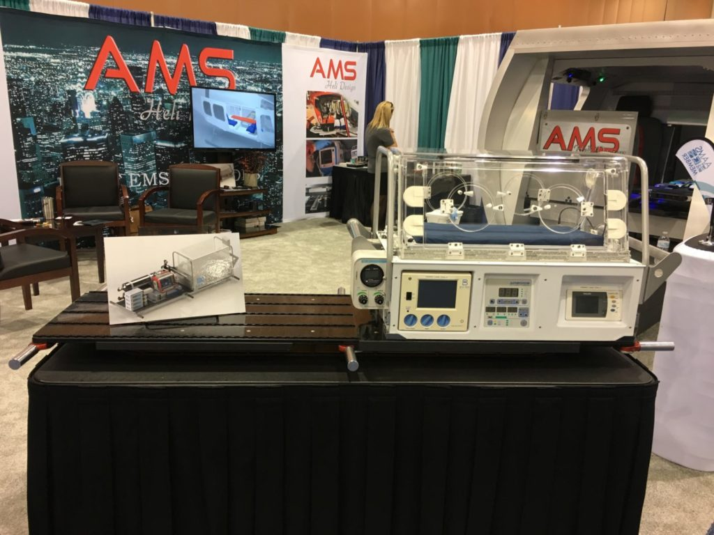 AMS Heli Design had its Neonatal Transport Deck on display at this year's AMTC in Phoenix, Arizona.
