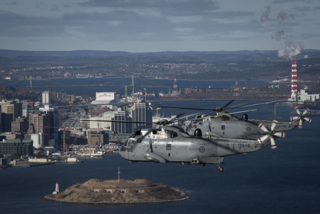 On Jan. 26, 2018, a trio of RCAF CH-124 Sea Kings conducted a flypast over Halifax, N.S., to commemorate the last operational Sea King flight by 12 Wing Shearwater's 423 Maritime Helicopter Squadron. Cpl Felicia Ogunniya