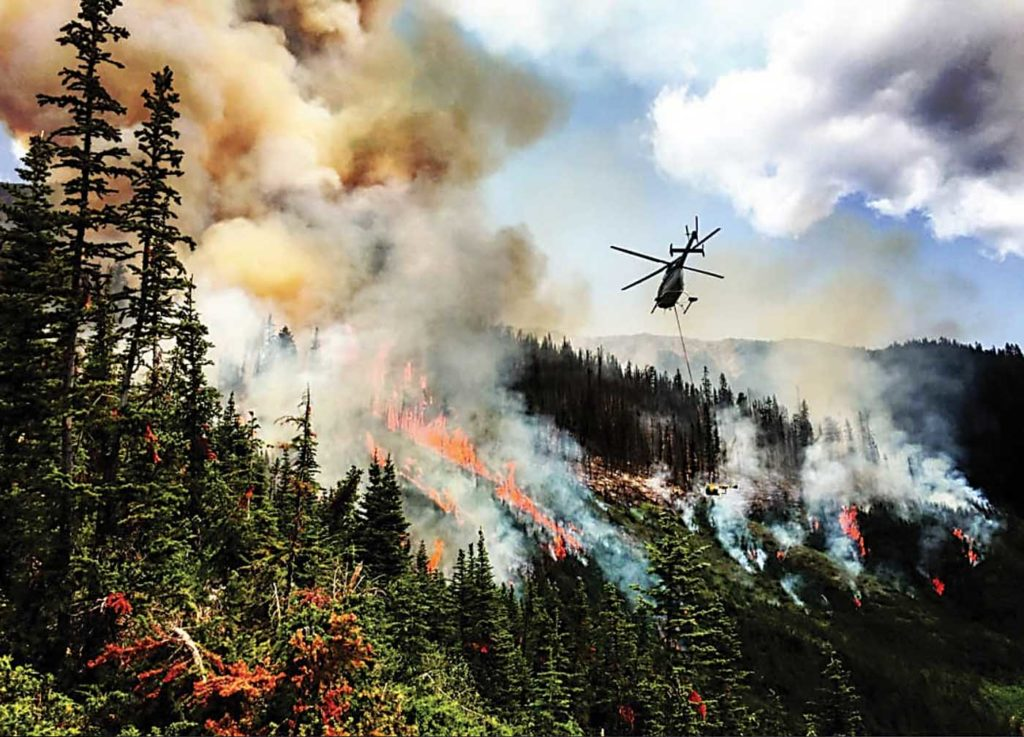 Much of the Canadian utility industry was kept busy fighting fires in 2018, but some operators reported difficulty in finding enough pilots to staff their aircraft. Coldstream Helicopters Photo