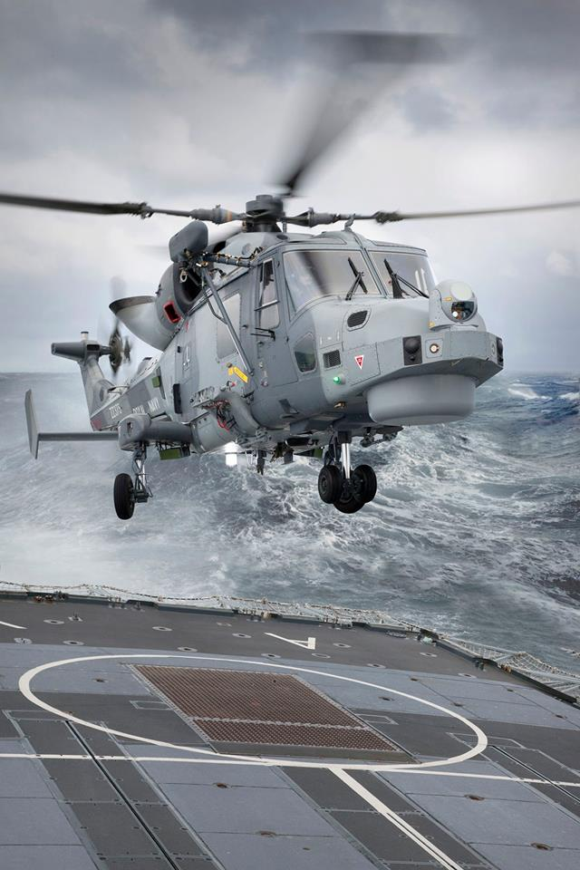 A Leonardo AW159 Wildcat of the Royal Navy lands on the back of HMS Argyll during an exercise. Photo submitted by Simon Pryor