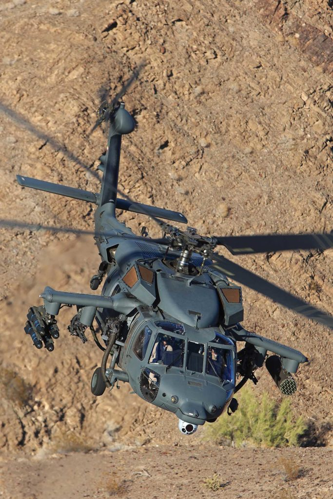 The S-70i Armed Black Hawk features a fully integrated weapons system. Qualified in 2017 by Sikorsky, the weapons system gives the utility platform a sophisticated medium attack mission capability, enabling high targeting accuracy. Ted Carlson Photo