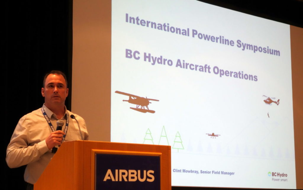 Clint Mowbray, senior field manager for BC Hydro's aircraft operations department, reviewed the importance of the