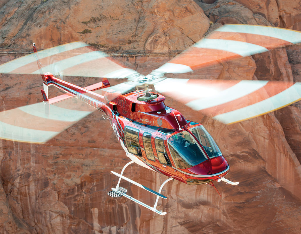 The Bell 407GXP - based in Los Alamos, New Mexico, at an elevation of 7,300 feet - is the latest addition to Classic's HEMS fleet. Dan Megna Photo