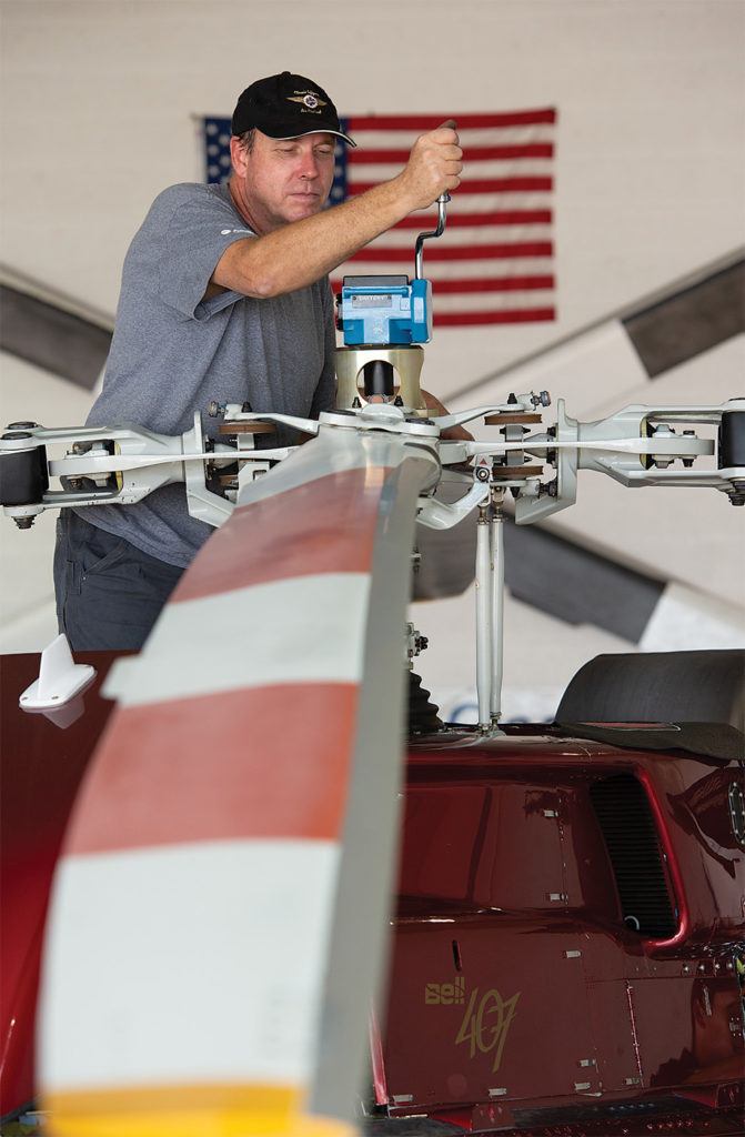 Aircraft maintenance technician Pete Malcom is one of three techs assigned to the Page, Arizona, base. Dan Megna Photo