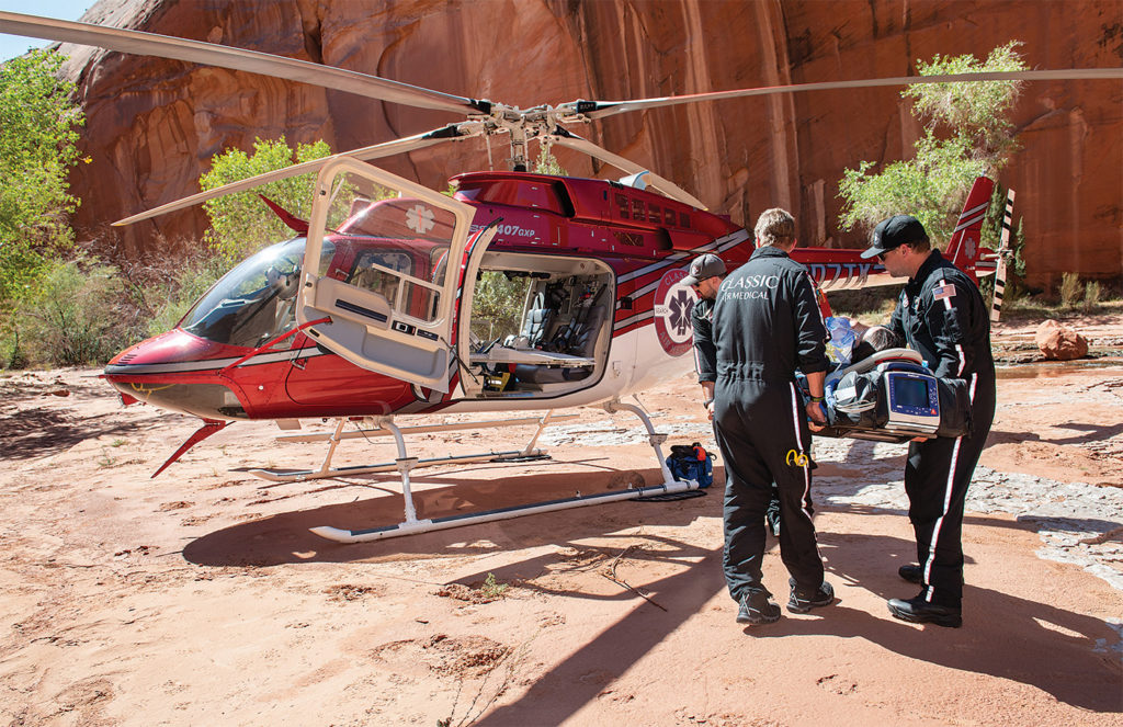 From its beginnings in 1988 as a part-time single helicopter operation, Utah-based Classic Air Medical has matured into a prominent air medical and SAR provider, serving some of the most primitive yet breathtaking regions in the western U.S. Dan Megna Photo