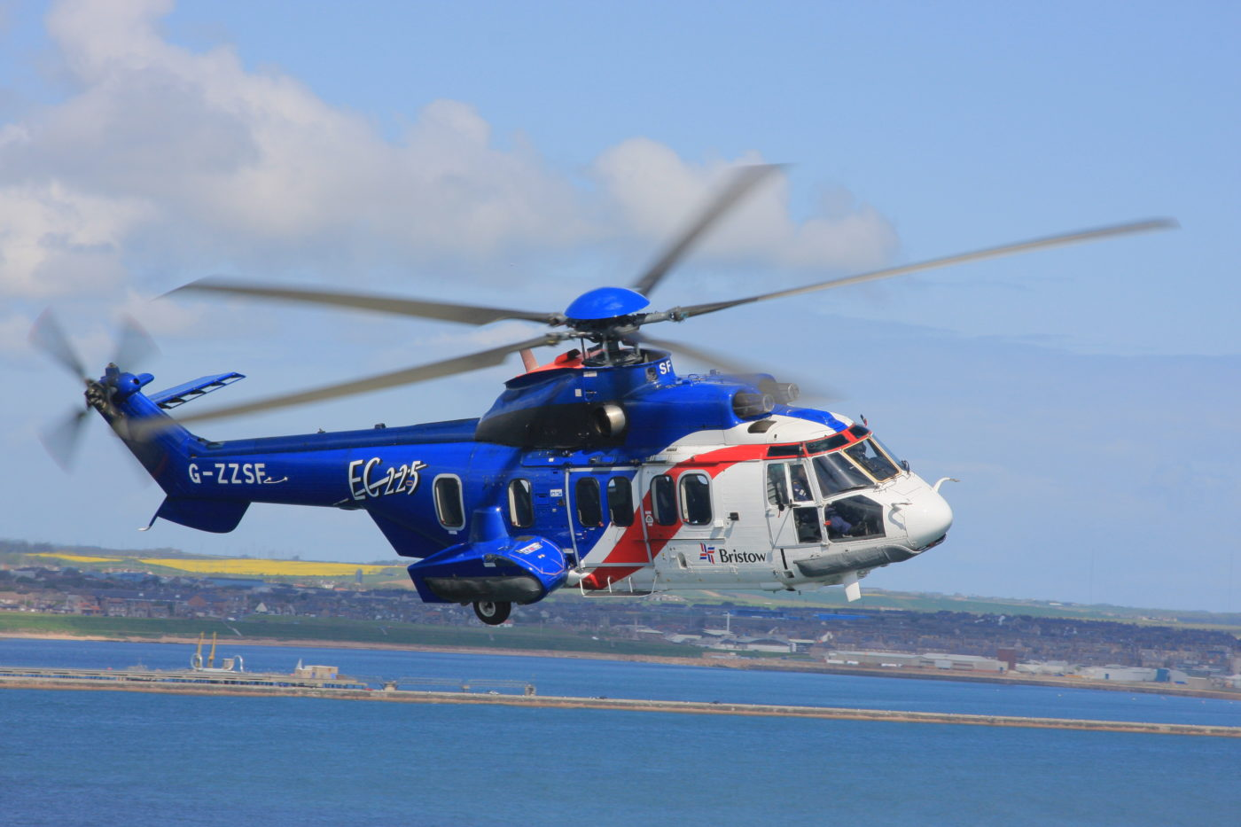Bristow hopes to leverage Columbia's U.S. Department of Defense Commercial Airlift Review Board certificate to find new work for many of its 22 remaining H225s that are currently idle. Heath Moffatt Photo