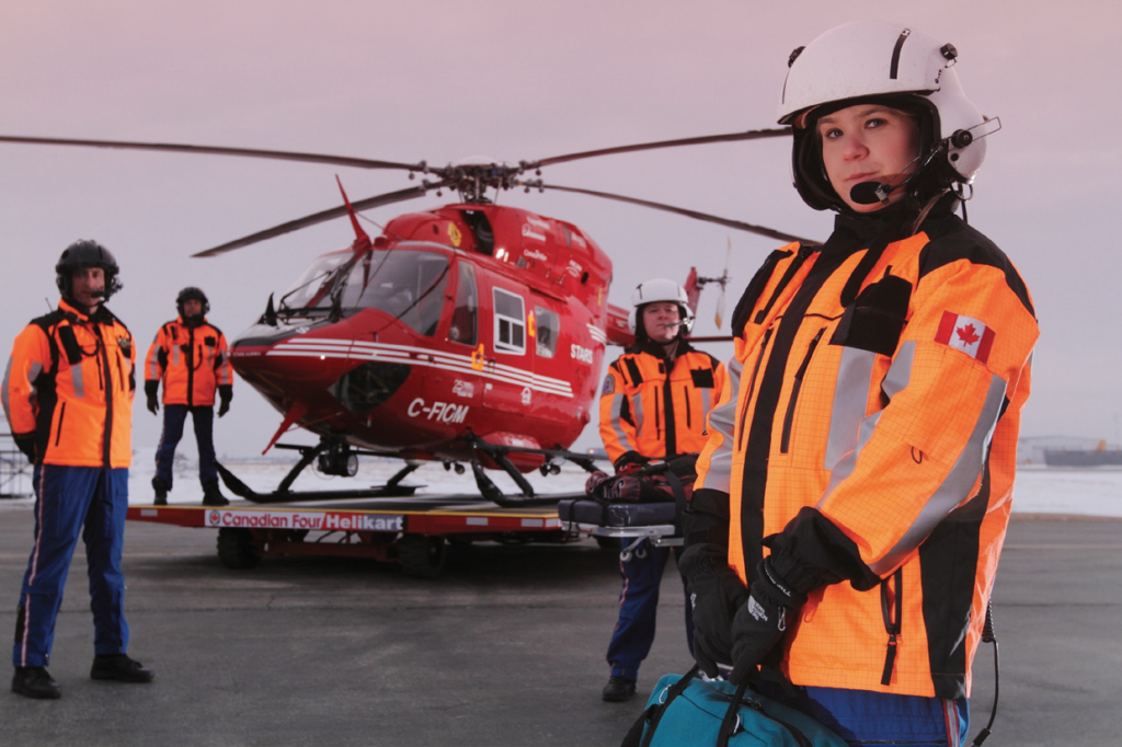 Pictured is Kendric Projects' mission control apparel line and medical kit collection featured by STARS' air medic crew. Kendric is developing a Soft Storage Restraint Case designed for STARS' fleet of new H145 helicopters, which will replace the organization's BK117s. Kendric Photo