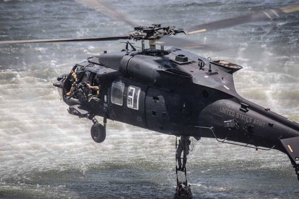 The Army's 160th Special Operations Aviation Regiment used highly modified Black Hawks on the raid to capture or kill Osama Bin Laden. Duane Hewitt Photo