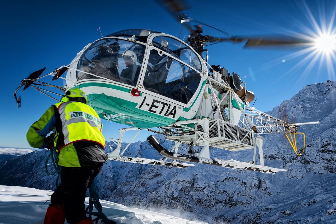 An Aérospatiale SA 315B Lama on the job in the Graian Alps. Photo submitted by Lloyd Horgan (Instagram user @lloydphoto) using #verticalmag