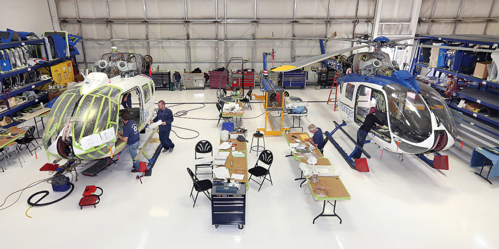 North American and European operators still account for much of the demand for HEMS interiors, but many interior providers including United Rotorcraft anticipate growing demand from countries like China in the future. United Rotorcraft Photo