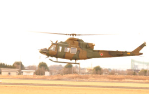 The UH-X during flight testing on Dec. 25