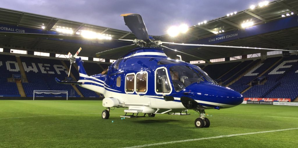 A failure in its tail rotor control system caused the loss of control that led to this Leonardo AW169 crashing in Leicester, England, on Oct. 27, killing all five on board. Leonardo Photo
