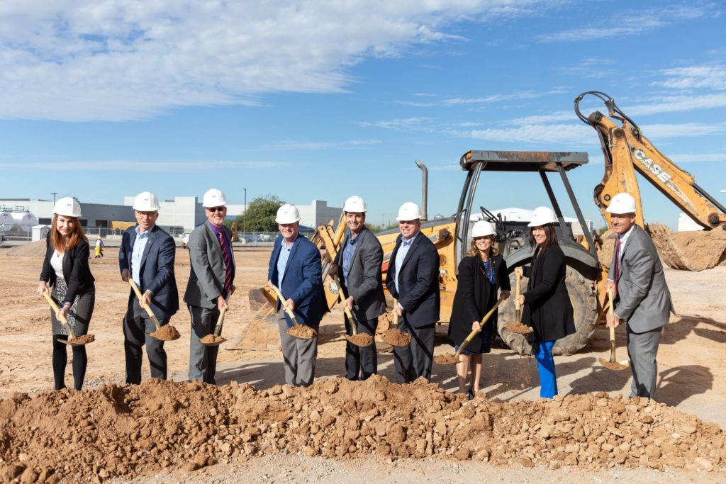 Able Staff celebrate the groundbreaking of the 50,000-square-foot facility at its headquarters. Able Photo