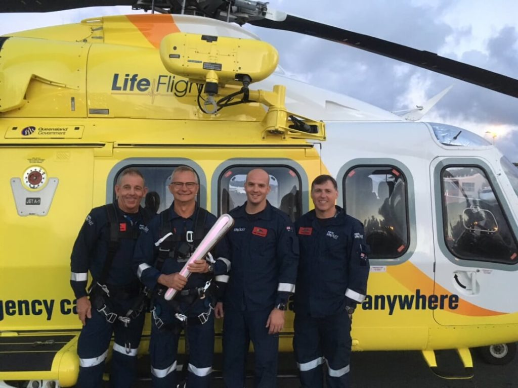 Inside the halls of LifeFlight, MacKillop has been helping people - both in the air and on the ground - since the charity's conception. LifeFlight Photo